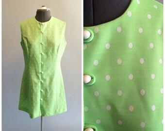 Vintage 60's Polka Dot Mini Dress