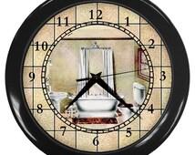 Unique Bathroom Clocks Related Items Etsy