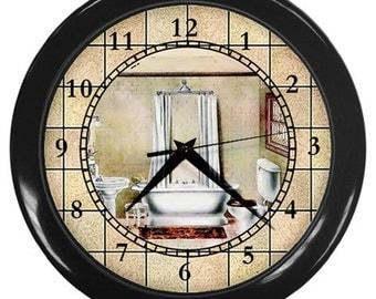 Personalized Bathroom Tub Time Wall Clock