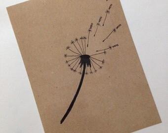 "Map ""desire"" (format postcards (A6))"