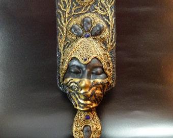 The sleeping beauty - Wall Art Mask, Wall Sculpture, OOAK Wall Art, Wall Decor, Face Wall Mask
