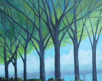 Trees by the Han River