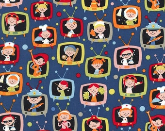 Michael Miller Fabric - When I Grow Up - Denim - from FQ to a Metre