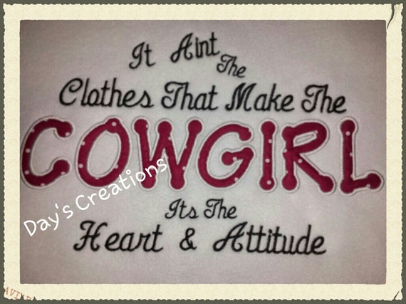 Embroidered hooded sweatshirt-cowgirl attitude hoodie sweatshirt-cowgirl saying sweatshirt
