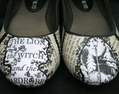 Chronicles of Narnia Flats Literature Flats Literature Shoes Book Flats Book Shoes Decoupage Flats Classic Literature
