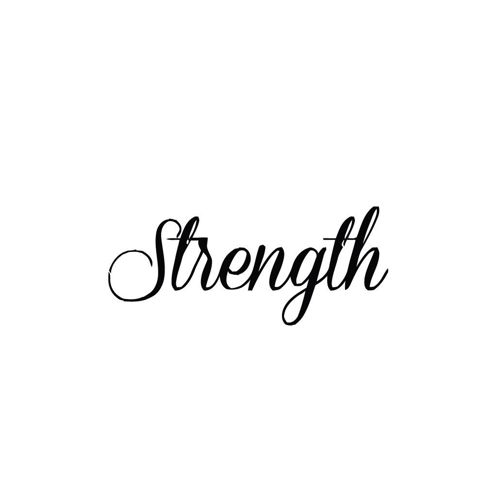 Tattoo That Means Strength: Quotes Strength Temporary Tattoo Set Of 2 By Tattify On Etsy