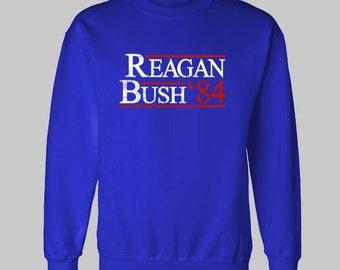 REAGAN BUSH 1984 REPUBLICAN election sweatshirt sweat shirt