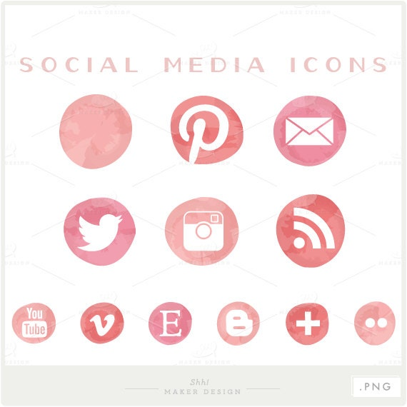 18 Free HTML CSS3 Social Media Buttons Icons with Hover