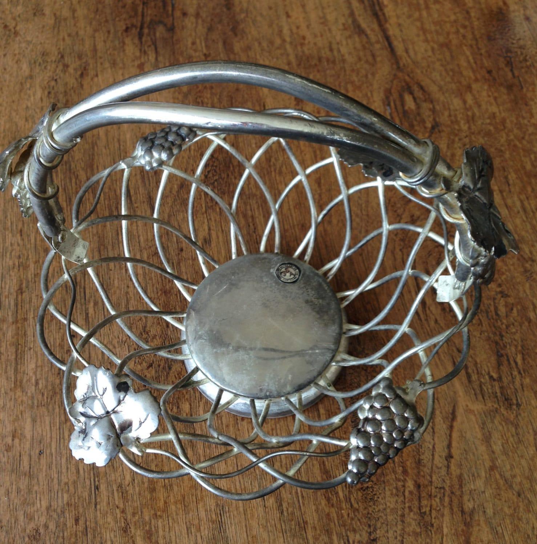 Godinger Silver Art Co Basket : Godinger silver art grape fruit basket with handle small