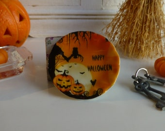 Happy Halloween Plate for Dollhouse