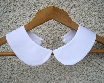 Peter Pan Detachable White Collar Necklace,Hand Made from Fine Cotton Fabric,xmas gift.christmas for her,women