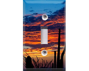 Cactus Sunset Light Switch Cover