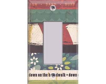 Boardwalk Collection - Strips Design Rocker/GFI Cover