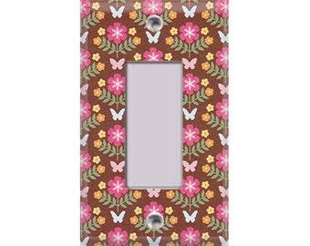 Garden - Butterflies Rocker/GFI Cover
