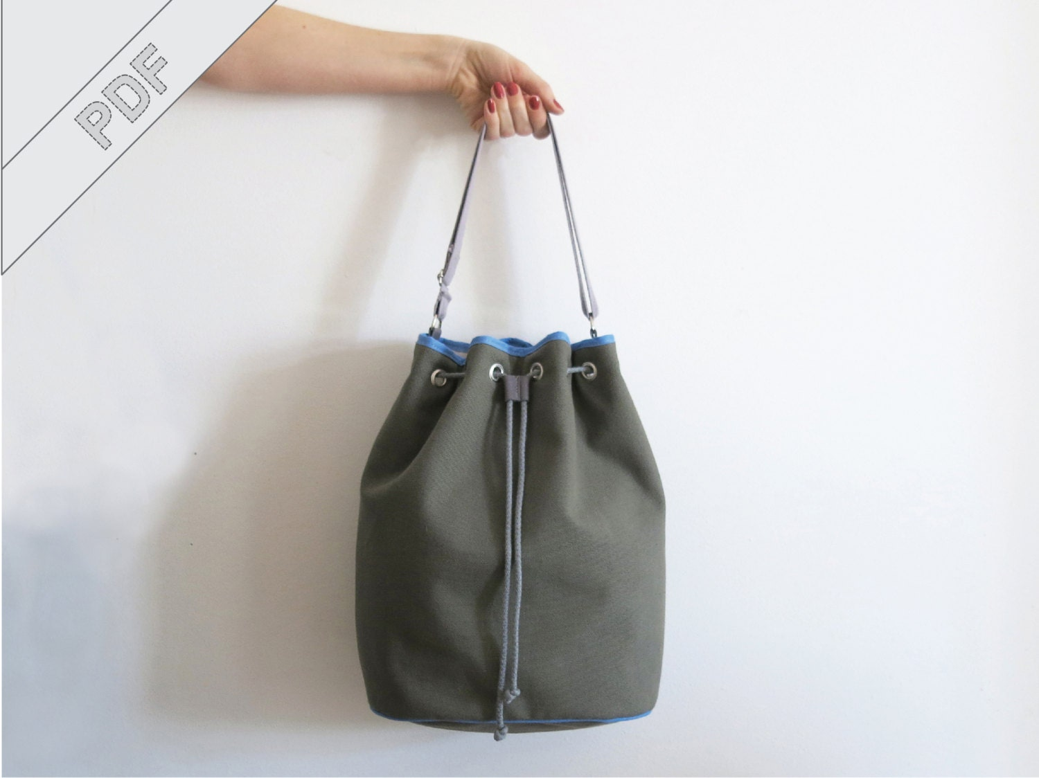 sewing tutorial with sewing pattern for a bucket bag ... - photo#41