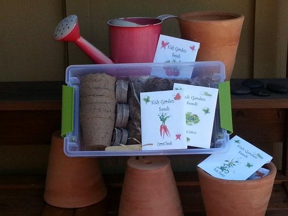 Gardening kit for kids organic seeds gardening childrens for Gardening kit for toddlers