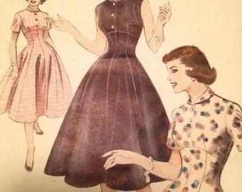 1950s Butterick 6913 bust 34 dress