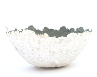Pappmache, Papiermache bowl, grey, Jewellery Scarves,  Recycling-Paper, Papier und Pappmaché, gift for her, Paper Mache Bowl