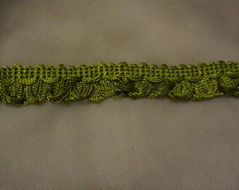 "3 Yards Green 3/4"" Silk Like Loop Trim BN6"