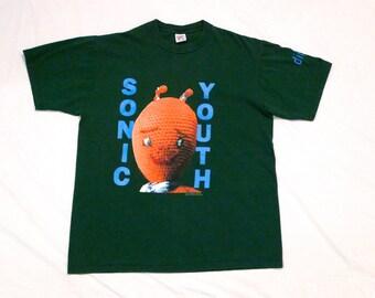 Sonic Youth T-shirt Vintage XL Extra Large Tee  Mike Kelley Crochet Figure 90s Dirty Band T shirt  Shirt Kim Gordon