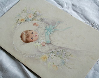 Watercolor New Baby Born
