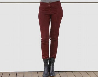 SALE 20% OFF! Womens pants - Womens trousers -Maroon trousers for women,  high waisted pants, fall fashion