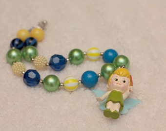 Traditional Tinkerbell Disney Chunky Necklace