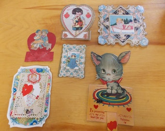 Vintage Valentines, Lot of  Valentines, Valentines from the 1920's