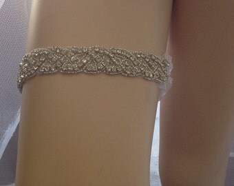 Wedding Garter,Bridal Garter, Crystal and Rhinestone Garter Best Seller ,Toss Garter