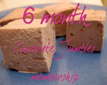 Chocolate Jumbles Club - 6 month membership - 1 dozen fair trade Gourmet homemade marshmallows