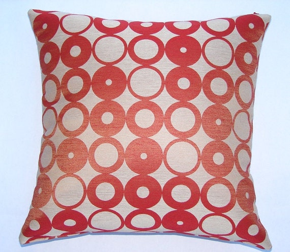 Mid Century Modern Style Pillows : Items similar to Mod circles - Mid-century Modern design accent pillow 17