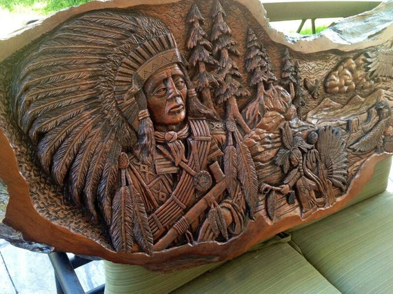 Items similar to native american carving slab t law on etsy