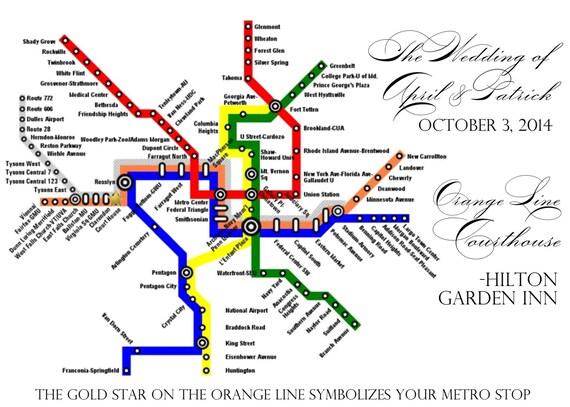 Custom Order for DC Metro Map; APRIL
