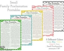 Family Proclamation Printables: Set of 5