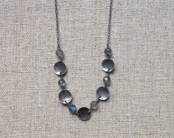 Antiqued sterling silver necklace