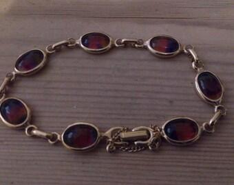 vintage Sarah Coventry coloured glass bead bracelet