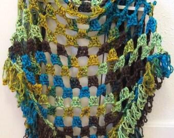 Crochet Pattern Shawl Chunky Shawl Winter Shawl Lace Wrap SALE