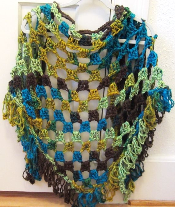 Crochet Pattern For Winter Shawl : Crochet Pattern Shawl Chunky Shawl Winter Shawl by ...