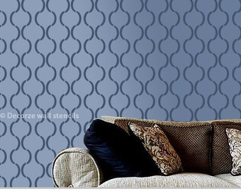 Reusable  Moroccan wall stencil for wall, homemade stencil pattern, DIY home décor stencil