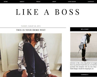 Like A Boss Premade Blogger Template
