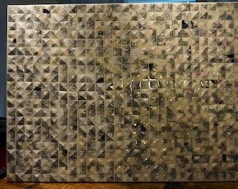 Sold -- 1213: reclaimed folded paper abstract