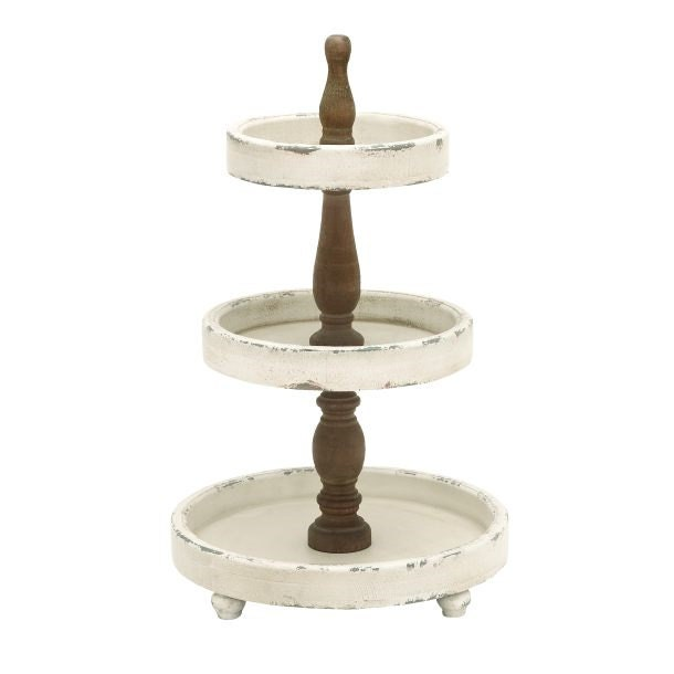 Diy 3 Tier Jewelry Stand: 3 Tier Wood Pedestal Stand Simply Beautiful