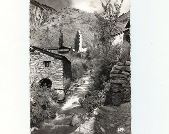 Vintage Andorra (Canillo) Postcard - River view. 1963 - S94