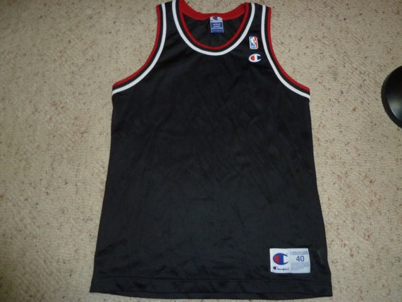 Vtg BLANK Chicago Bulls NBA Champion Jersey by VintageSportsStuff,WUZAQTM212,
