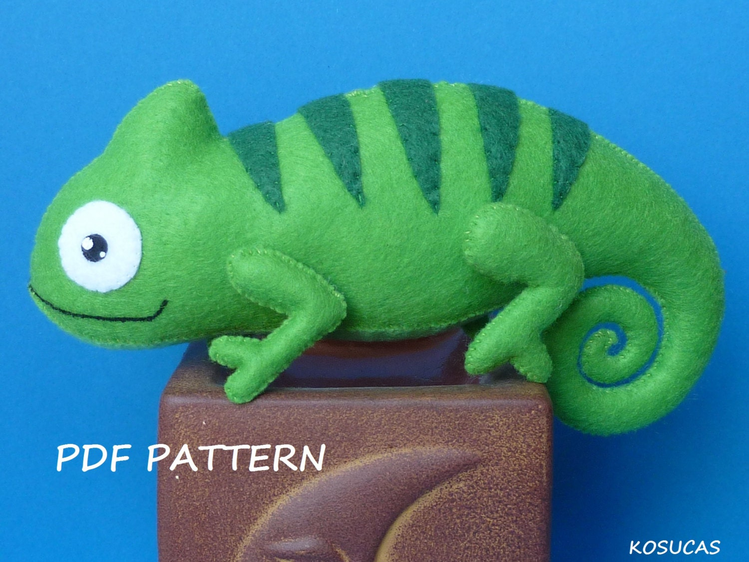 Pdf Sewing Pattern To Make A Felt Chameleon From Kosucas