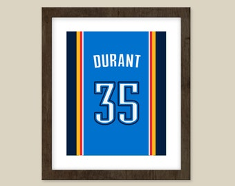 Kevin Durant Jersey print - Oklahoma City Thunder Jersey -  Customizable & Excellent present.