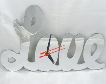 Love Clock Mirror - 2 Sizes Available