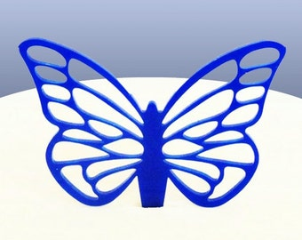 "Patterned Acrylic Butterfly  Cake Toppers 6.5cm / 2.5"" - 5 Colours Available"