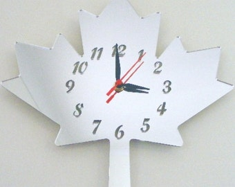 Maple Leaf Clock Mirror - 2 Sizes Available
