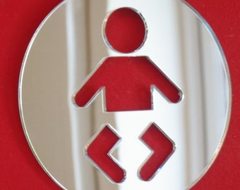 Baby Changing Sign Mirror - 5 Sizes Available